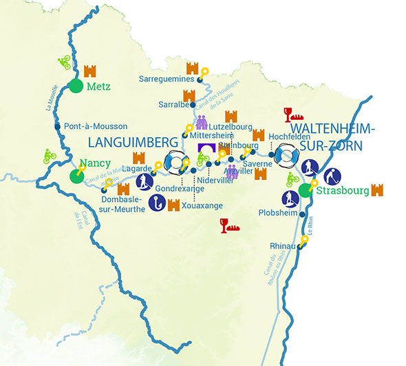 Routes River cruise alsace