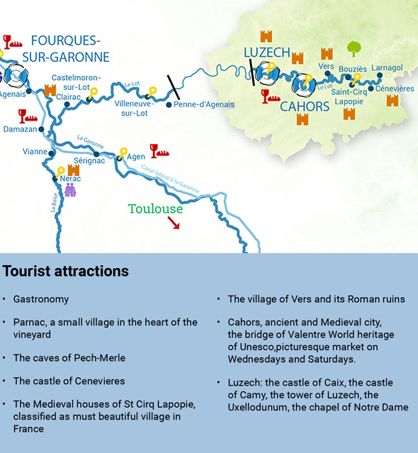 Routes River cruise lot